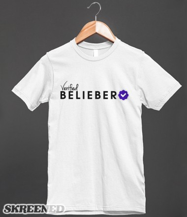 Verified Belieber | Fitted T-shirt | Skreened