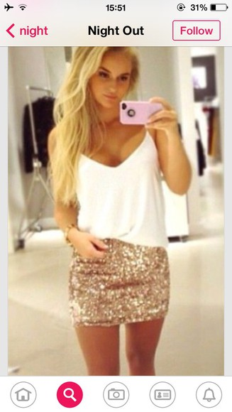 skirt mini skirt sequin gold sequins