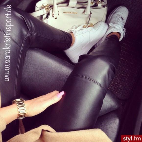 black pants jeans leggings leather pants leather leggings