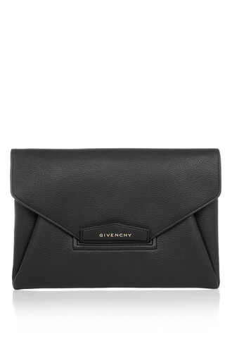 envelope clutch clutch leather black bag