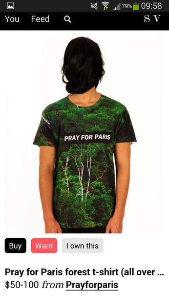 shirt forest pray for paris me