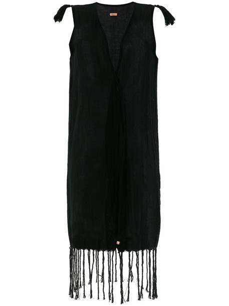 Caravana dress sleeveless tassel women cotton black
