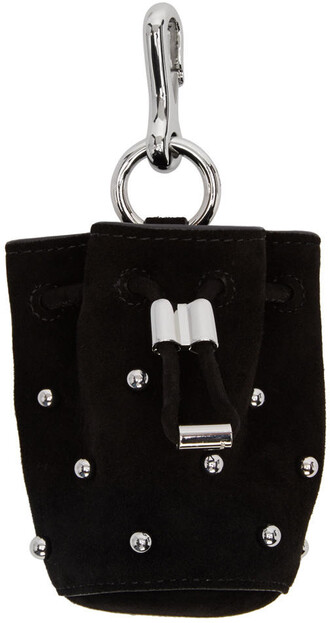 mini pouch suede black bag