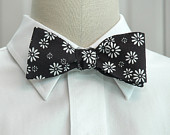 daisy bow tie on Etsy, a global handmade and vintage marketplace.