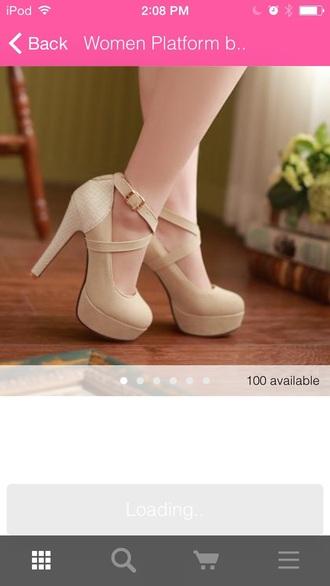 shoes heels high heels cute high heels nude style