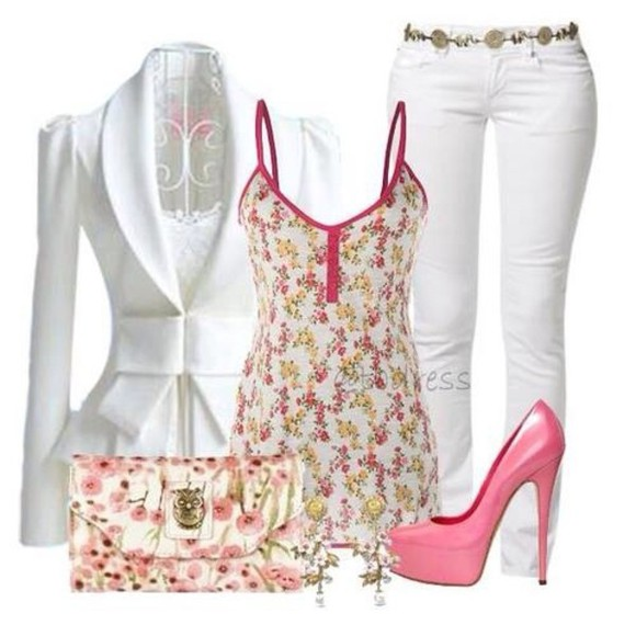 white white blazer jacket blouse