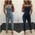 Cheap Wholesale Trendy Washed Suspender Denim Jumpsuit