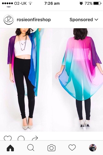 jacket rainbow blouse