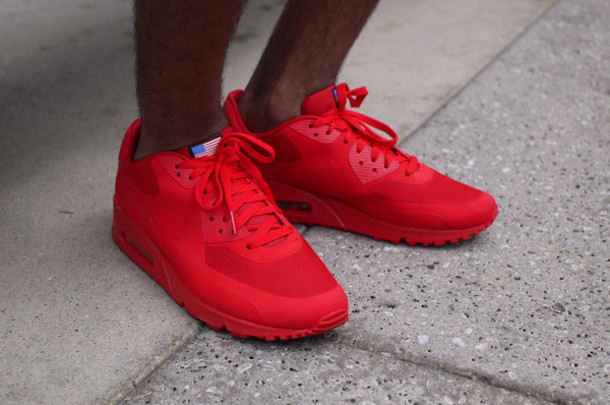 Shoes: sneakers, air max, red, mens shoes - Wheretoget
