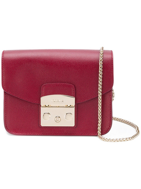 Furla women bag leather red