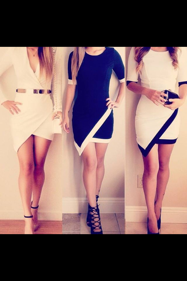 dress white dress striped dress black and white dress