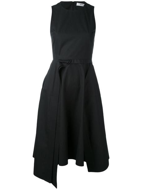 Chalayan dress sleeveless dress sleeveless women layered cotton blue