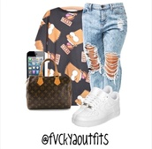 t-shirt,cartoon,b&w,yellow,air jordan,nike air force 1,jeans,acid wash,louis vuitton,fashion,shoes