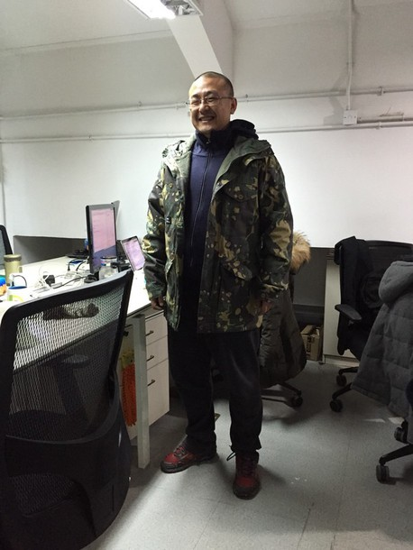 jacket camouflage overcoat shoes