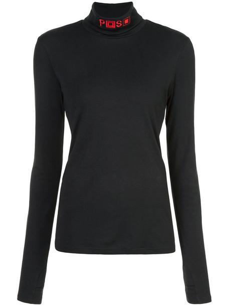 Proenza Schouler turtleneck women cotton black sweater