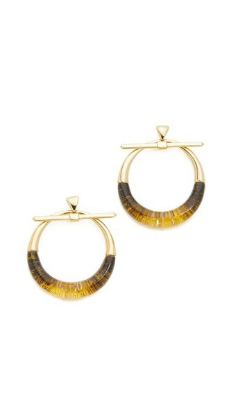 clear earrings hoop earrings gold jewels