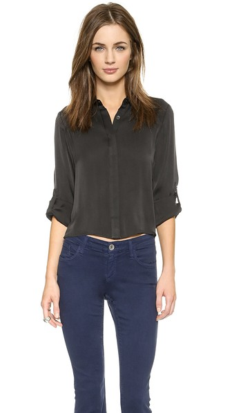Alice   olivia sharon button down blouse