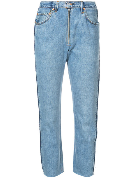 Re/Done jeans high women cotton blue 24