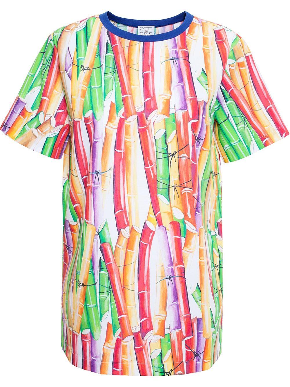 Stella jean bamboo print top