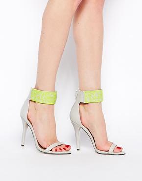 Asos hexagon heeled sandals at asos.com