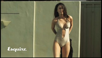 swimwear one piece swimsuit v neck esquire megan fox