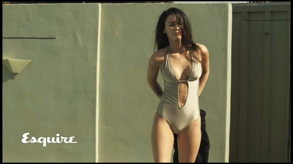 Swimwear V Neck Esquire One Piece Swimsuit Megan Fox American Apparel Wheretoget