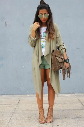 style by nelli blogger shoes sunglasses jewels t-shirt coat