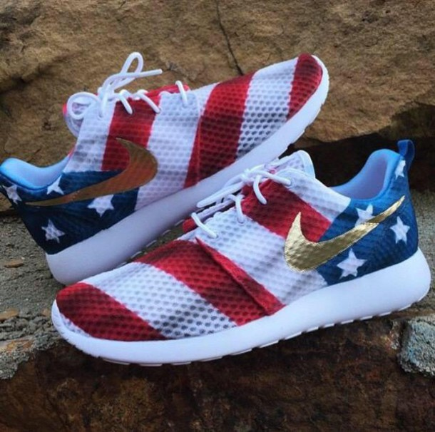 cdbec9c77fbe shoes nike nike sneakers american flag nike roshe run nike running shoes  nike shoes usa sneakers