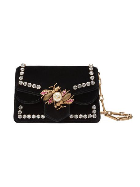 gucci mini women bag mini bag leather black velvet