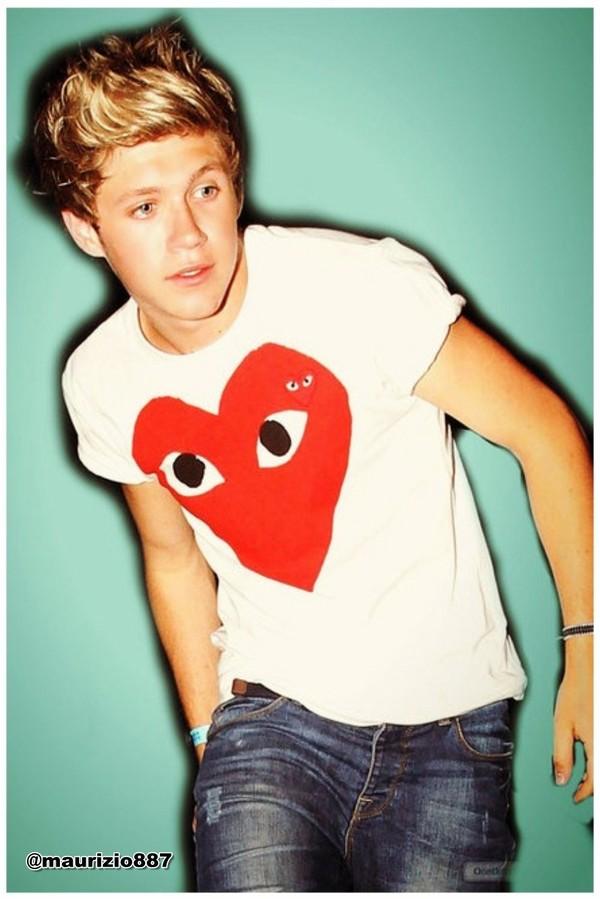 t-shirt niall horan heart shirt