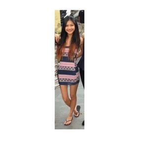 dress summer blue pink sleeveless colorful