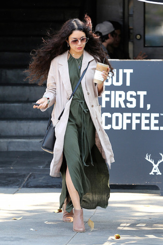 le fashion image blogger sunglasses dress coat bag