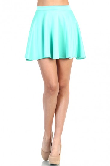 LoveMelrose.com From Harry & Molly | Cute Skater Skirt - Mint