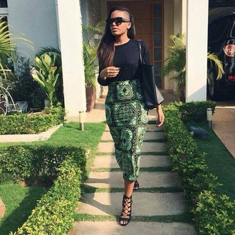 skirt long skirt maxi skirt african print african style