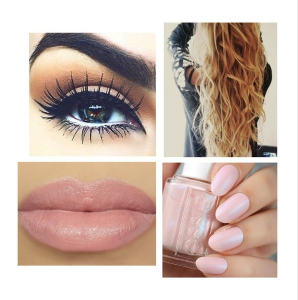make-up eye makeup lipstick hairstyles nail polish party make up