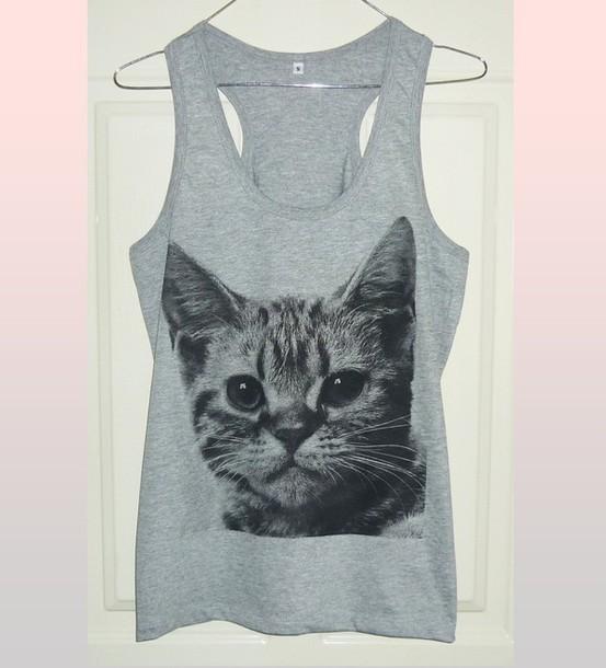 top cat tank top cat clothing cute tank top summer tank tops