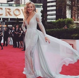dress carrie bickmore red carpet dress gown prom dress evening dress