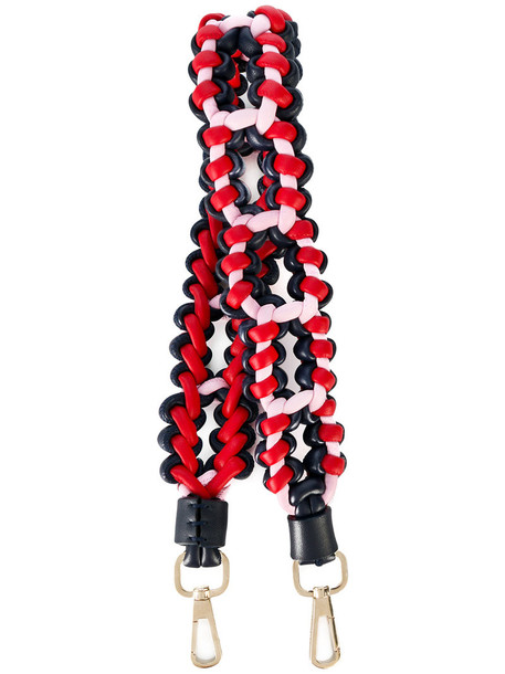 VERSACE women braided bag leather red