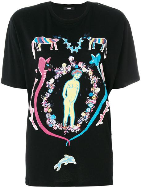 Diesel - Treg T-shirt - women - Cotton - M, Black, Cotton