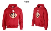 sweater,red sweater,hoodie