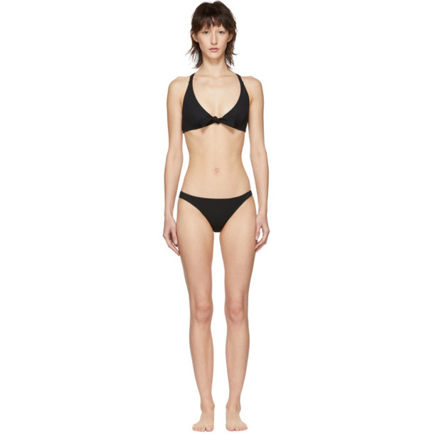Solid and Striped Solid & Striped Black Rib 'The Fiona' Bikini