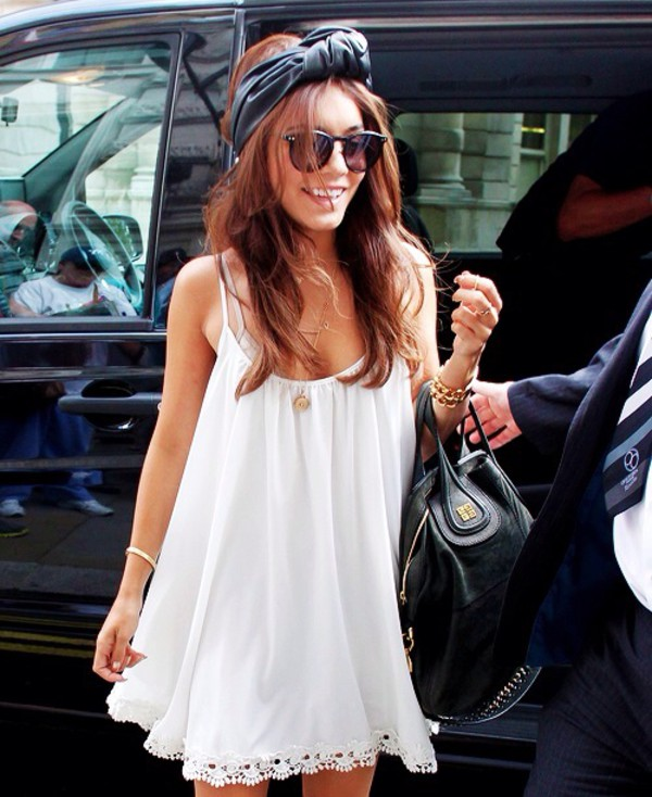 dress celebrity clothes celebrity style vanessa hudgens vanessa hudgens hair accessory