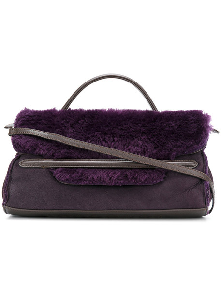 women leather purple pink bag