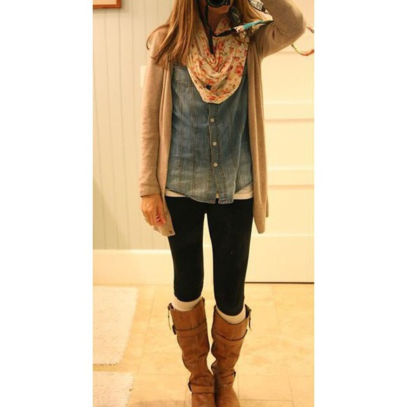 cardigan instagram tumblr tumblr girl white girl scarf