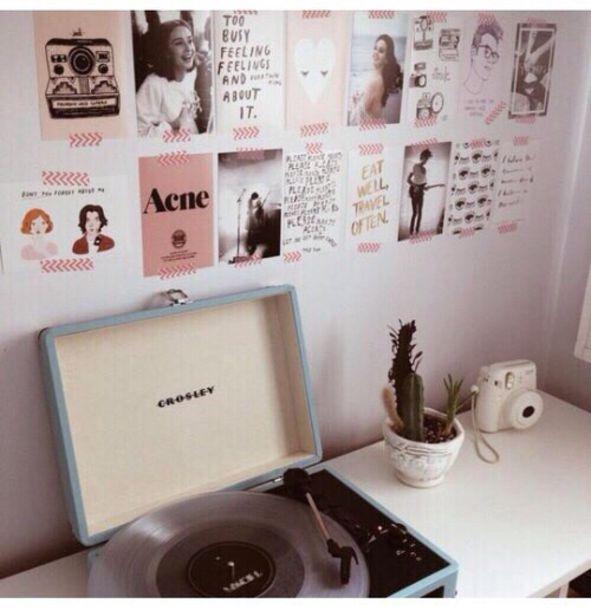 Home Accessory Record Player Retro Tumblr Home Decor