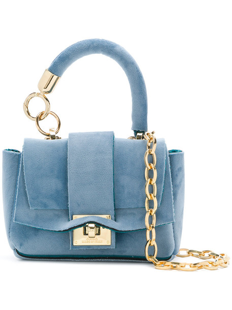 Alila mini women bag tote bag blue velvet neoprene