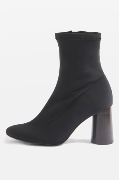 Topshop sock boots black shoes