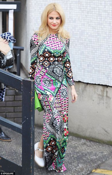 dress celebrity fashion beautiful pixie lott blogger clothes maxi dress spring summer girl