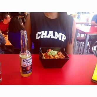 top champ muscle tee