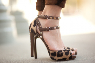 Leopard Print Strappy Heels - Shop for Leopard Print Strappy Heels